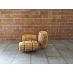 Mini tonneau en bois 2cm de haut