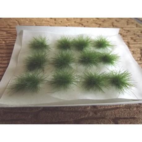 plaque de touffes d'herbe couleur foncée
