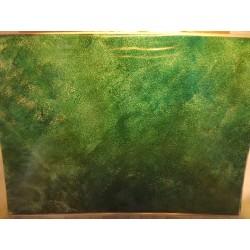 Feuille imitation eau, modèle 4, vert