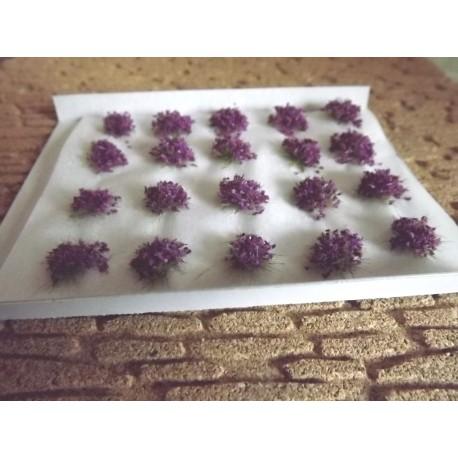 Plaque touffes de lavande claires 6mm