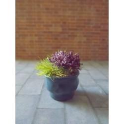 Jardinière bleue avec fleurs, modèle 4