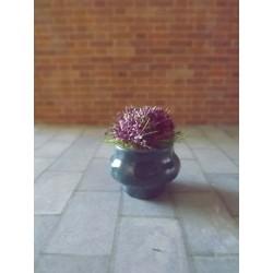 Jardinière bleue avec fleurs, modèle 5