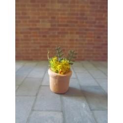 Pot de fleurs modèle 1,  1,5cm de haut sans les fleurs