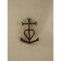 Croix de Camargue, en bois, 4,5cm de hauteur