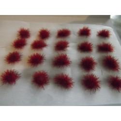 Touffes d'herbe ROUGES FONCEES, fibres 6mm