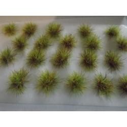 Touffes d'herbe VERTES MIXTES, fibres 6mm