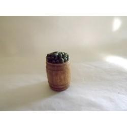 Tonneau d'olives vertes  15 x 18mm