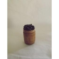 Tonneau d'olives noires  15 x 18mm