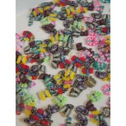 Lot de 20 papillons de 2 à 4mm