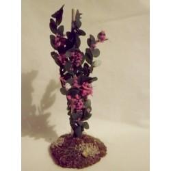 Arbrisseau fleuri rose, 10cm de haut