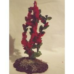 Arbrisseau fleuri rouge, 10cm de haut