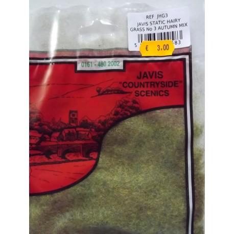 Flocage herbe statique vert automne, 2mm