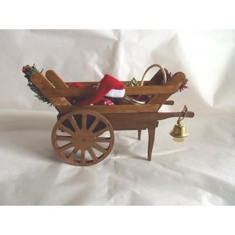Chariot du Père Noël ou Saint Nicolas