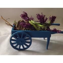 Chariot bleu marchand de lavande 10cm de long