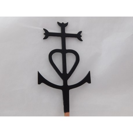 Croix de Camargue 7,5cm de haut
