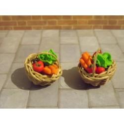 Petit panier rond de légumes au 1/24ème