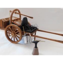 Chariot de forge éclairée