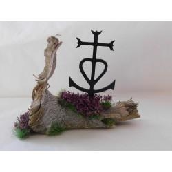 Décor bois flotté avec croix de Camargue 2