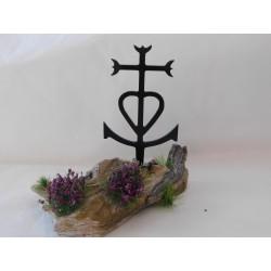 Décor bois flotté avec croix de Camargue 3