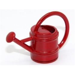 Arrosoir rouge en métal 2,5cm de haut