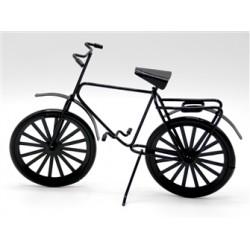 Vélo en métal, noir, 9,5cm de haut