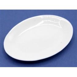 Plat ovale en porcelaine 4,2cm de long