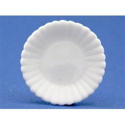 Plat en porcelaine 3cm de diamètre
