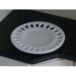 Plat en porcelaine 3,5cm de diamètre