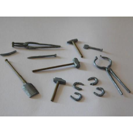 Lot d'outils de forge