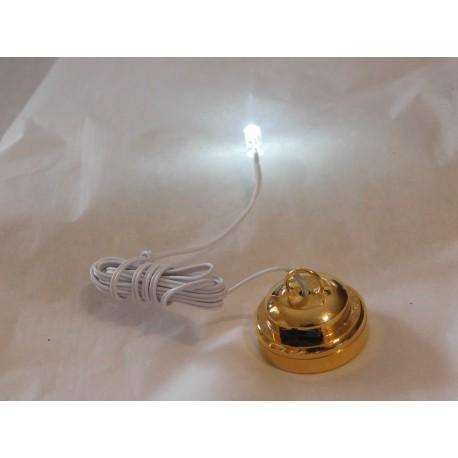 led 3mm avec boitier interrupteur et pile