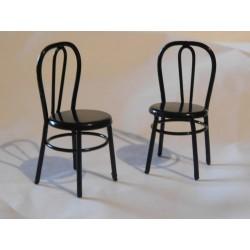 """Chaise """"bistrot"""" en métal 5cm de haut"""