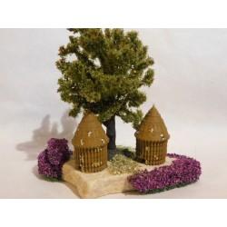 Rûche sur pierre, avec arbre, mod.3