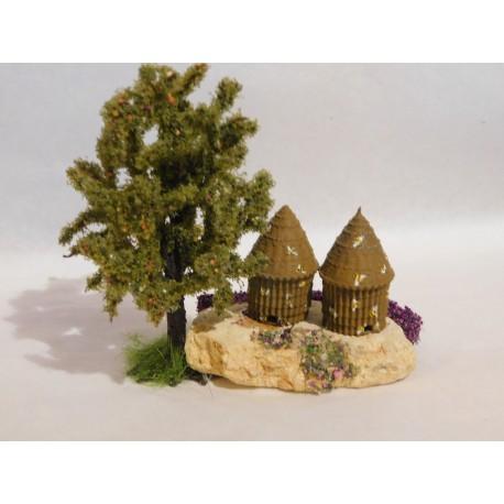 Rûche sur pierre, avec arbre, mod.4