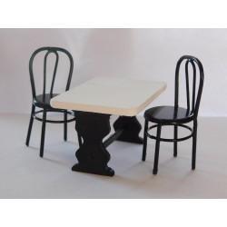 """Table """"bistrot"""" 3,5cm de haut  (vendue sans chaise)"""