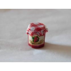 Pot de confiture fraises (1,2cm de haut environ)