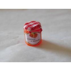 Pot de confiture abricots (1,2cm de haut environ)