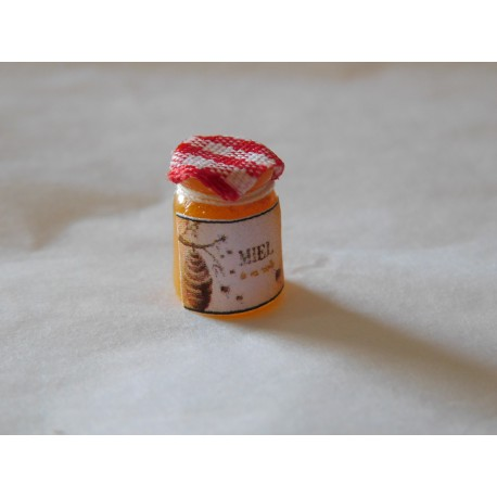 Pot de miel crémeux (1,2cm de haut environ)
