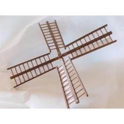 Ailes de moulin (longueur d'une pale 13cm)