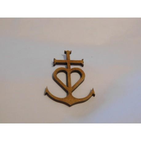 Croix de Camargue , bois, 4,5cm haut
