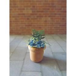 Pot de fleurs modèle 2,  1,5cm de haut sans les fleurs