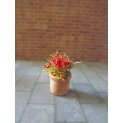 Pot de fleurs modèle 3,  1,5cm de haut sans les fleurs