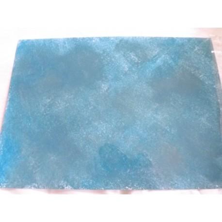 Feuille imitation eau bleu foncé/gris