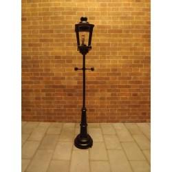 Lampadaire de rue à pile et led. 12cm de hauteur