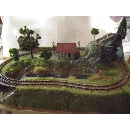 Création Diorama ferroviaire fonctionnel 40cm sur 30cm