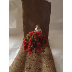 Arbre fleuri rouge  Haut 7,7cm