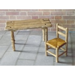 Table et chaise campagnardes