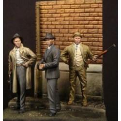 3 personnages Chicago 1930 à peindre