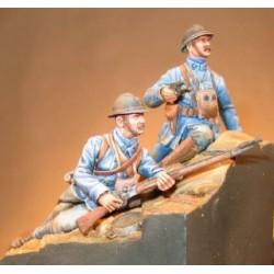 Officier et soldat d'infanterie 1916 à peindre