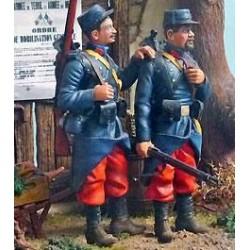 2 soldats de 1914 à peindre