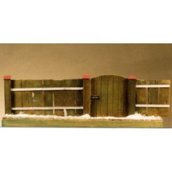 Barrière et portail rustiques à peindre